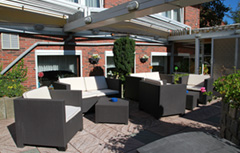 Terrasse vor Hotel-Pension Loose